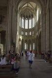 Chapelle Notre-Dame-sous-Terre, Mont Saint Michel Abbey, Frankrike Arkivbild