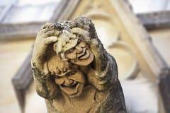 Chapelle Oxford d'université de Gargyoyle Merton Image stock