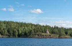 Chapelle par le lac Balaam Photo stock