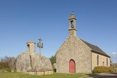 Chapelle Pol e le abitudini antiche si elevano al Brignogan-flocculo, Britt fotografia stock libera da diritti