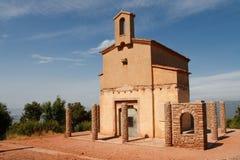 Chapelle près du monastère de Montserrat, Espagne Photos libres de droits