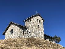 Chapelle Rigi Kulm ou Bergkapelle Rigi Kulm ou matrice Bergkapelle Regina Montium de montagne image libre de droits