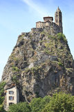Chapelle Saint Michel de Aiguilhe Stock Photography