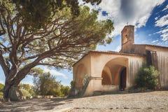 Chapelle Sainte-Anne av Saint Tropez, Frankrike fotografering för bildbyråer