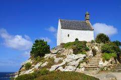 Chapelle Sainte Barbe. Roscoff Frankrike Arkivbilder