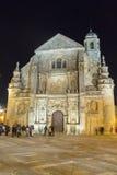 Chapelle Salvador la nuit, Ubeda, Jaen, Espagne de sauveur photographie stock