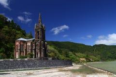 Chapelle sur le sao Miguel d'île du Portugal Photos stock