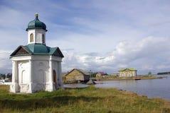 Chapelle sur Solovki Image libre de droits