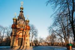 Chapelle-tombe de Paskevich, 1870-1889 ans, en parc de ville dans Gomel Image libre de droits