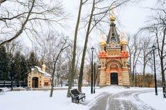 Chapelle-tombe de Paskevich dans Gomel, Belarus Saison de l'hiver Images stock
