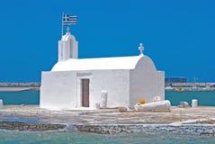 Chapelle traditionnelle sur l'île de Naxos images libres de droits