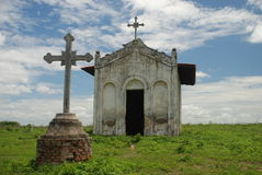 Chapelle tropicale au milieu de nulle part. Piauì, Brésil photos stock
