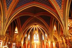 chapelleparis sainte Royaltyfria Bilder