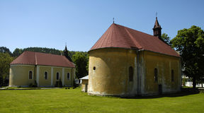 Chapels. Old chapels in Svidnik, Slovakia Royalty Free Stock Photography
