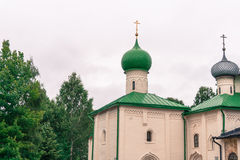 Chapels and domes of church at monastery Royalty Free Stock Photo
