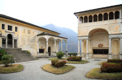 Chapels of Sacro Monte di Varallo, Italy Stock Images