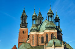 Chapels and towers Gothic cathedral church. In Poznan Royalty Free Stock Photos
