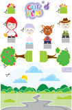 Chapeuzinho CUT & PLAY. Paper Toy Cut & Play Royalty Free Stock Images