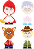 Chapeuzinho Puppets. Funny Cute Puppets for any kind of game Stock Photos