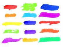 Chapinhar escovas da aquarela Fotos de Stock Royalty Free