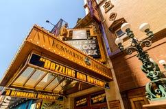 Chapiteau de théâtre sur la quarante-deuxième rue Photo libre de droits