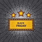 Chapiteau noir de vendredi Image stock