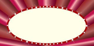 Chapiteau ovale de style de cinéma Photo stock
