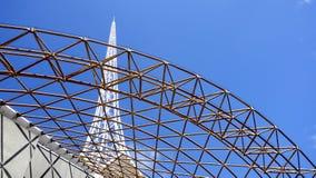 Chapitel detrás del marco. Foto de archivo