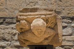 Chapitel in Larnaca-Fort Stock Foto's