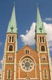 Chapiteles de la iglesia Fotografía de archivo