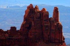 Chapiteles de la piedra arenisca Fotos de archivo