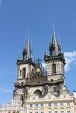 Chapiteles góticos Fotografía de archivo libre de regalías