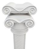 Chapiter de um close up da coluna no fundo branco Imagens de Stock Royalty Free