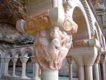 Chapiter stary przyklasztorny monaster blisko Jaca, Huesca, Hiszpania zdjęcie stock