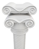 Chapiter van een kolomclose-up op witte achtergrond Royalty-vrije Stock Afbeeldingen