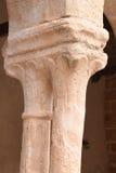 Chapiter van romanesque van kerk San Salvador de Carabias; Sigue Stock Afbeeldingen