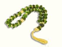Chaplet de cristal verde decorativo Fotografia de Stock