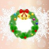 Chaplet do Natal com campanellis Imagens de Stock