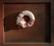 Chaplet on door Stock Photography
