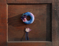 Chaplet on door Royalty Free Stock Images
