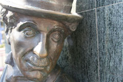 chaplin charlie staty Arkivbild