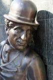chaplin charlie staty Arkivbilder