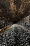 Chapline Hill Tunnel - Wheeling Terminal Railway - Wheeling, West Virginia. Inside the closed Chapline Hill Tunnel for the Wheeling Terminal Railway in Wheeling Stock Image