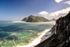 从Chapman&看见的Hout海湾x27; s峰顶驱动-开普敦,南非 免版税图库摄影
