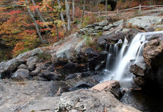 Chapman Falls. In East Haddam, CT Devil's Hopyard State Park royalty free stock photos