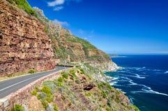 Chapman& x27; s峰顶驱动-西开普省,南非 免版税库存照片
