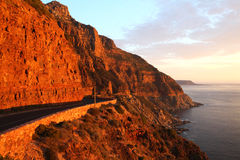 Chapman's Peak. The famous Chapman's peak near Hout bay Cape Town South Africa Stock Photo