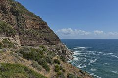 Chapman's Peak Drive. Awesome road to Cape of Good Hope. Royalty Free Stock Photography