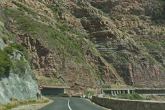 Chapman's Peak Drive. Awesome road to Cape of Good Hope. Stock Photo