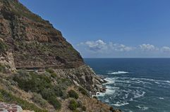 Chapman's Peak Drive. Awesome road to Cape of Good Hope. Royalty Free Stock Images